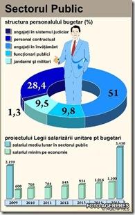Grafic măsluit? Foto sector bugetar preluat de la AGERPRES.