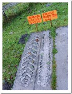 Urmele de anvelope vechi