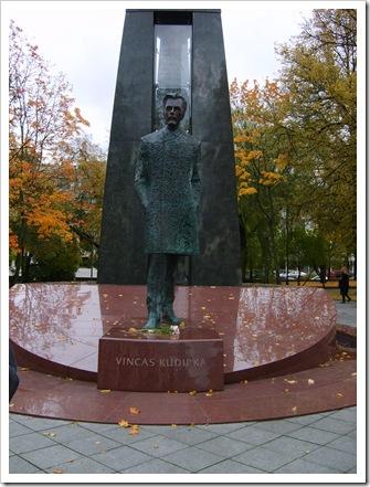 Statuia lui Vinkas Kudipka - creatorul Imnului Național