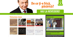 Site-ul lui Băsescu - clonat meseriaș