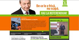 Site-ul lui Băsescu - originalul după care s-a făcut clona.