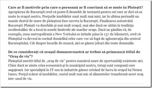 Interviul cu primarul Volosevici