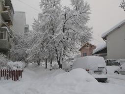 Un cartier din Ploiești înzăpezit (2012)