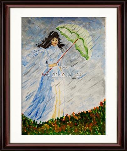 Femeia cu umbrelă