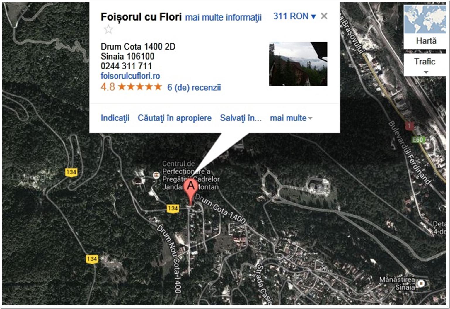 Harta localizare Foișorul cu flori
